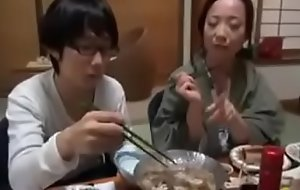 Japanese Milf shows nerdy Son how with Fuck